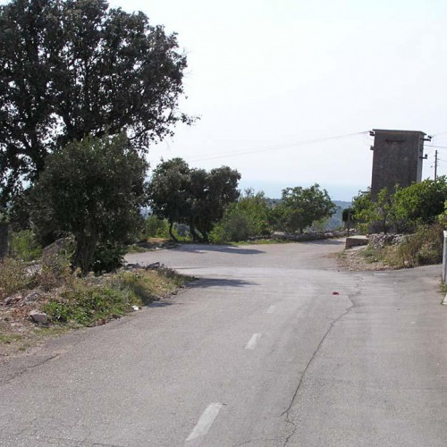 3.9km - 2nd crossing, turn left before the trafo-station